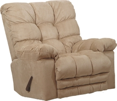 Catnapper Magnum Chaise Rocker Recliner in Hazelnut