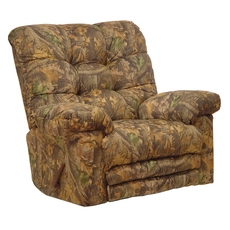 Catnapper Magnum Camouflage Oversized Chaise Rocker Recliner with Heat and Massage and X-tra Comfort Footrest in Infinity