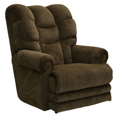Catnapper Malone Lay Flat Recliner in Basil with Extended Ottoman and Power Option
