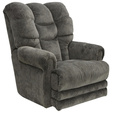 Catnapper Malone Lay Flat Recliner in Slate with Extended Ottoman and Power Option