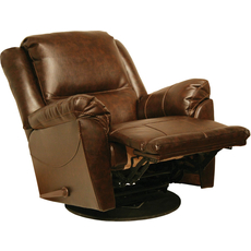 Catnapper Maverick Chaise Swivel Glider Recliner in Java
