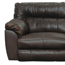 Catnapper Milan Leather Lay Flat Power Recliner in Chocolate