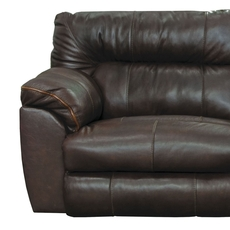 Catnapper Milan Leather Lay Flat Recliner in Chocolate