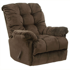 Catnapper Nettles Chaise Rocker Recliner with Deluxe Heat and Massage in Umber