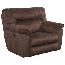 Catnapper Nichols Lay Flat Recliner in Chestnut
