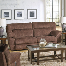 Catnapper Nichols Power Lay Flat Reclining Sofa in Chestnut