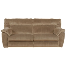 Catnapper Nichols Lay Flat Reclining Sofa in Fawn