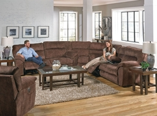 Catnapper Nichols Reclining Sectional in Chestnut