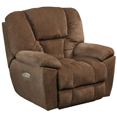 Catnapper Owens Power Lay Flat Recliner with Power Headrest in Hickory