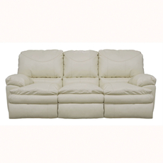 Catnapper Perez Leather Reclining Sofa in Ice with Power Option