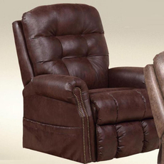 Catnapper Ramsey Power Lift Lay Flat Recliner with Heat and Massage in Sable