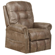 Catnapper Ramsey Power Lift Lay Flat Recliner with Heat and Massage in Silt
