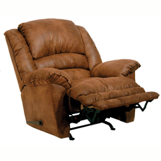 Catnapper Revolver Chaise Rocker Recliner with Heat and Massage in Tanner