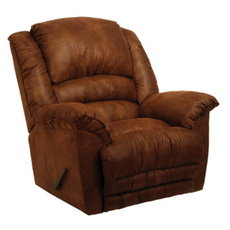 Catnapper Revolver Chaise Rocker Recliner in Chocolate