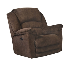 Catnapper Rialto Chaise Rocker Recliner with X-tra Comfort Footrest in Chocolate