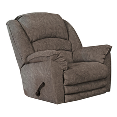 Catnapper Rialto Chaise Rocker Recliner with X-tra Comfort Footrest in Steel