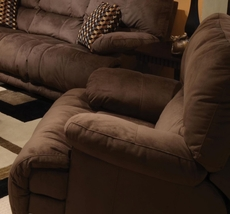 Catnapper Riley Chaise Rocker Recliner in Coffee with Power Option