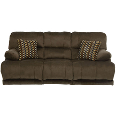 Catnapper Riley Reclining Sofa in Coffee with Power Option