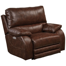Catnapper Sheridan Power Lay Flat Recliner with Power Headrest in Java