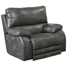 Catnapper Sheridan Power Lay Flat Recliner with Power Headrest in Steel