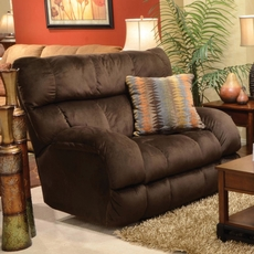 Catnapper Siesta Lay Flat Recliner in Chocolate with Power Option