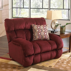 Catnapper Siesta Lay Flat Recliner in Wine with Power Option
