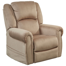 Catnapper Spencer Lay Flat Pow'r Lift Recliner with Power Headrest in Coffee