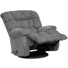 Catnapper Teddy Bear Chaise Swivel Glider Recliner in Graphite