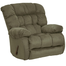 Catnapper Teddy Bear Chaise Rocker Recliner in Sage