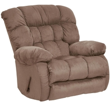 Catnapper Teddy Bear Chaise Rocker Recliner in Saddle