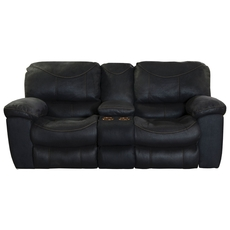 Catnapper Terrance Reclining Console Loveseat in Black