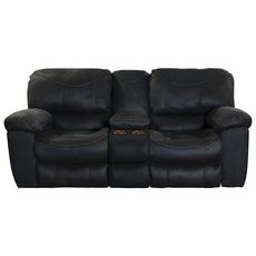 Catnapper Terrance Power Reclining Console Loveseat in Black