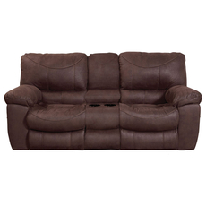 Catnapper Terrance Reclining Console Loveseat in Chocolate