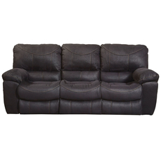 Catnapper Terrance Reclining Sofa in Black