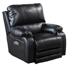 Catnapper Thornton Power Lay Flat Recliner with Power Headrest in Black