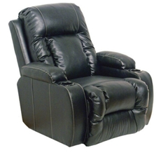Catnapper Top Gun Leather Theater Seating in Black with Multiple Seat and Power Options