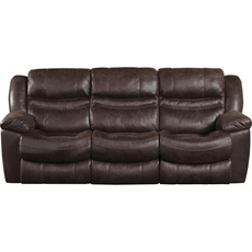 Catnapper Valiant Reclining Sofa in Coffee with Drop Down Table and Power Option