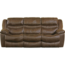 Catnapper Valiant Reclining Sofa in Elk with Drop Down Table and Power Option