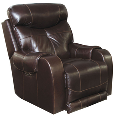 Catnapper Venice Leather Power Recliner with Power Headrest in Chocolate