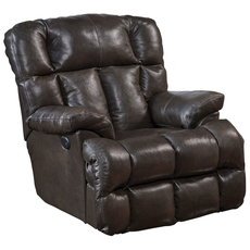 Catnapper Victor Leather Power Lay Flat Chaise Recliner in Chocolate