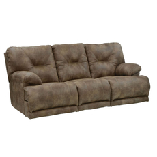 Catnapper Voyager Lay Flat Reclining Sofa in Brandy with Power Option