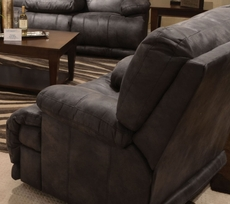 Catnapper Voyager Lay Flat Recliner in Slate with Power Option