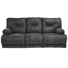 Catnapper Voyager Lay Flat Reclining Sofa in Slate with Power Option