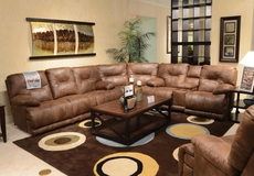 Catnapper Voyager Lay Flat Reclining Sectional in Elk