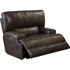 Catnapper Wembley Leather Lay Flat Recliner in Chocolate