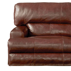 Catnapper Wembley Leather Lay Flat Recliner in Walnut