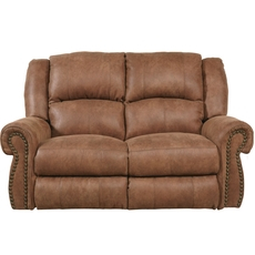 Catnapper Westin Rocking Reclining Loveseat in Nutmeg