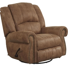 Catnapper Westin Swivel Glider Recliner in Nutmeg