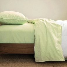 CIMINO HOME Chambray Nile Green Cal King Sheet Set
