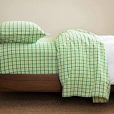 CIMINO HOME Gingham Nile Green Twin Sheet Set